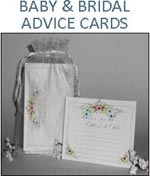 Baby and Bridal Shower Advice Cards Gift Sets in Organza Bags