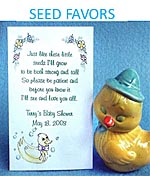 Baby Shower Party Flower Seed Favor Packets Personalized
