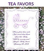 Baby Shower Party Tea Favor Packets