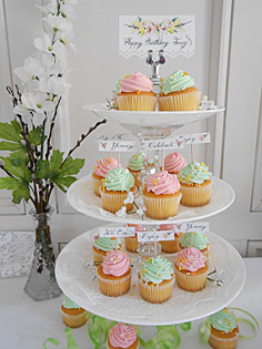 Birthday Cupcake Place Cards Escort Cards