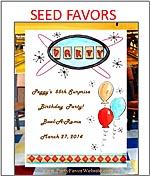 Birthday Party Flower Seed Favor Packets personalized
