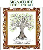 Personalized Family Tree Signature Print