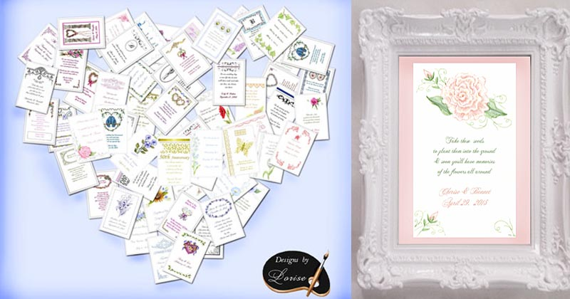 Flower Seed Favors and Tea Packets custom personalized and plantable