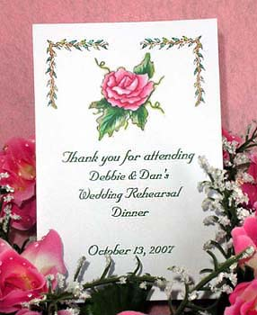 Fuschia Pink Rose Seed Favor Packets