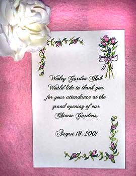 Pink Tulips Flower Seed Favors & Tea Packets