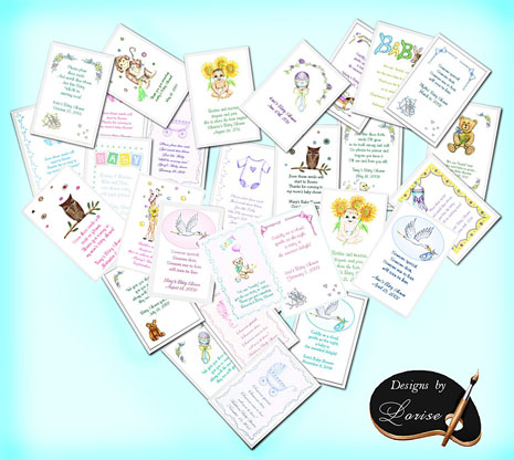 Baby Shower Flower Seed Favors and Tea Packets custom personalized