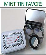 Bridal Shower Mint Tin Party Favors Large size with Hinges in White