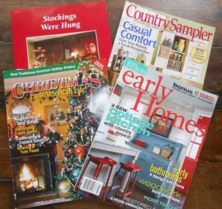 Early Homes, Country Sampler, Early American Life & Judy Condon book and magazines