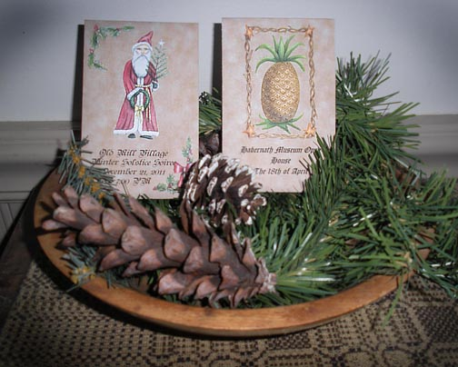 Custom Seed Favor Packets in colonial and primitive designs for historical house tours, museums, fundraisers, etc.