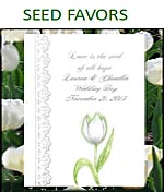 Wedding Flower Seed Packet Favors