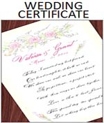 Calligraphy Quaker Personalized Wedding Marriage Certificate