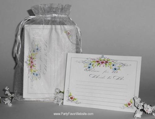 Bridal Shower Advice Cards Gift Set