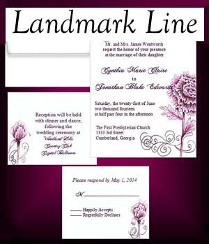 Landmark  Wedding Invitations
