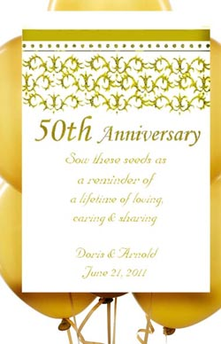 50th -  Fiftieth Gold wedding Anniversary Seed Favor Packets