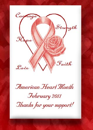 Red Ribbon Heart, Heart Disease& HIV Aids Awareness Seed Favors & Tea Packets