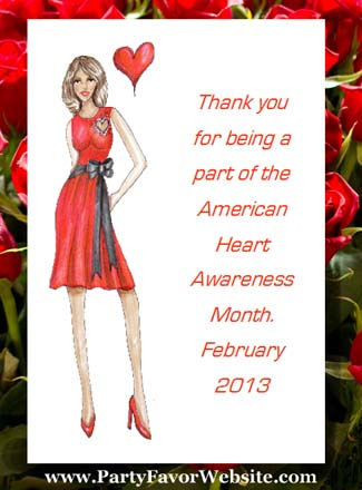 Fashionable with Heart, Heart Disease Awareness Seed Favors & Tea Packets