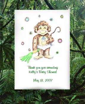 Monkey Baby Shower   Tea Packets & Seed Favors