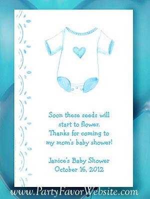 Blue Boy Onesie Baby Shower