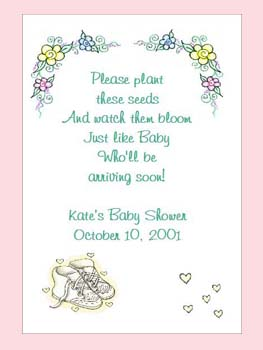 Yellow  Baby Shoes Baby Shower, Baptism, Christening  Seed Favors & Tea Packets