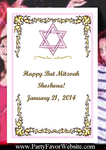 Bat Mitzvah Pink and Gold Seed  Favors and Tea Favor Packets