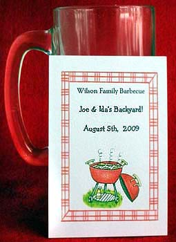 Cooking on the Grill  Barbecue, Family Reunions Seed Favors  & Tea Packets