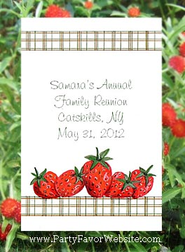Strawberries in Summer Barbecue, Family Reunions, Garden Parties, Seed  Favors  & Tea Packets