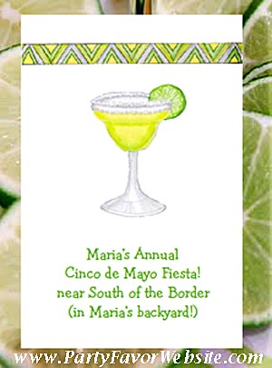 Margarita with Lime Cocktail Party, Birthdays & Cinco de Mayo Seed  Favor Packets