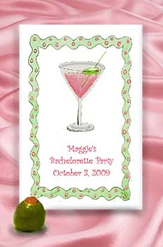 Pink Martini Seed Favor Packets for Bachelorette, Birthday, Cocktail &  Dinner Parties