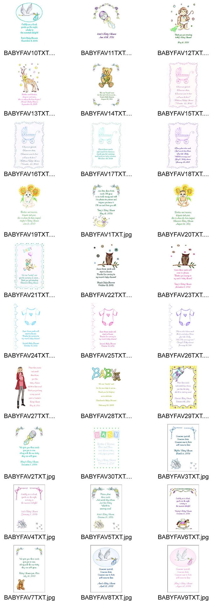 Baby Shower Tea Favor Packets
