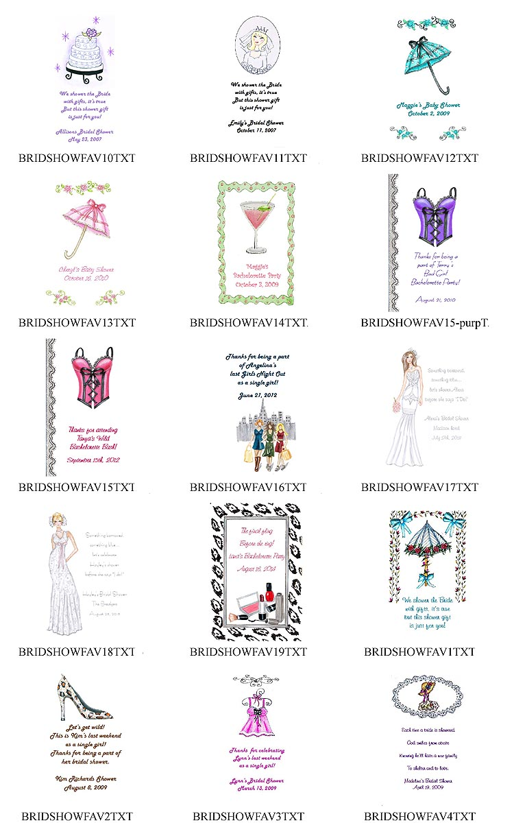 Bachelorette Party Tea Favor Packets