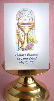 Holy First Communion,  Confirmation, Baptism, Christening Christian Seed Favors  & Tea Packets