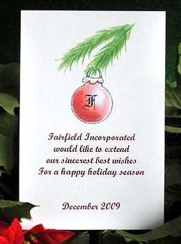 Red Glass Ornament  Christmas holiday Seed Favors & Tea Packet Favors