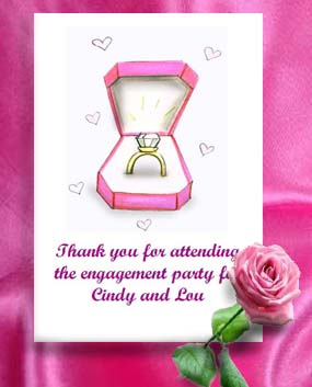 Engagement Ring in the Box  Engagement and Bridal Shower Seed Favors & Tea Packets