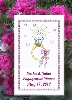 The Ring That Dazzles Engagement, Bachelorette & Bridal Shower Seed Favors & Tea Packets