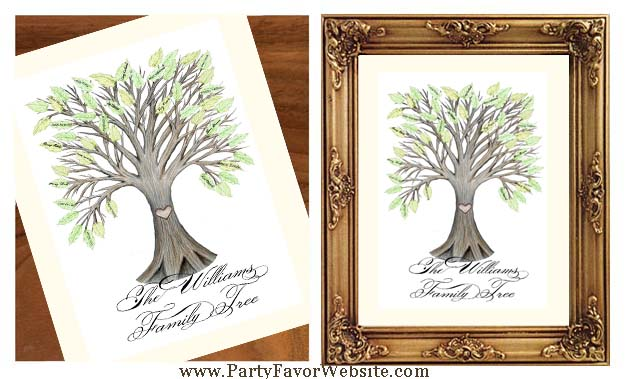 Personalized Family Tree & Friends Signature Guest Book