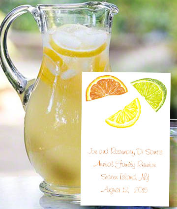 Citrus Lemon Lime and Orange Slice Seed Favors  & Tea Packets
