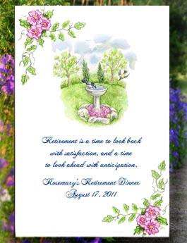 Blue Jay in Bird Bath,  Bird Lover, Nature Lover  Seed Favor & Tea Packets