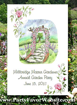 Garden Trellis Roses & Geese Garden Parties & All Occasion  Seed Favors