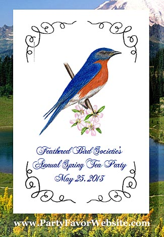 Bluebird Design Seed Favor Packets