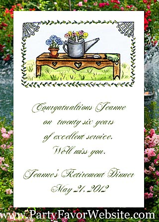 Gardeners Bench Garden Parties Seed Favor Packets