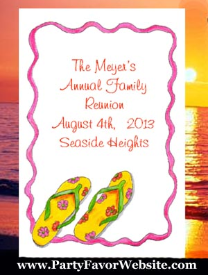 Flip Flops Barbecue, Family Reunions, Beach Destination Wedding Seed Favors & Tea Packet Favors