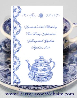 Wedgewood Blue Teapot Seed Favors for Tea Parties & All Occasions