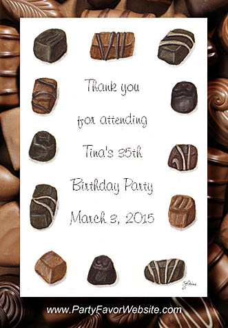 Chocolate Birthday and Party Event Seed Favor Packets