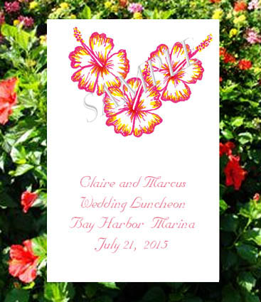 Hibiscus Seed Favors  & Tea Packets