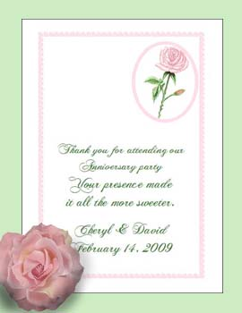 Pink Rose Flower Seed Favor Packets for Weddings, awareness events & fundraisers