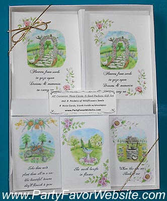 Country Scene All Occasion Note Cards and Seed Packets Gift Sets