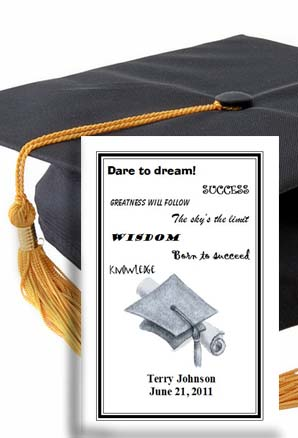 Cap & Diploma Graduation Seed Favors & Tea Packet Favors