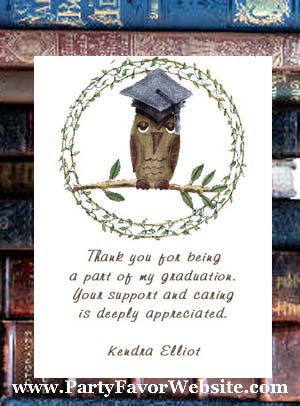 Whooooo's Graduating? Graduation Owl Seed Favors & Tea Favor Packets