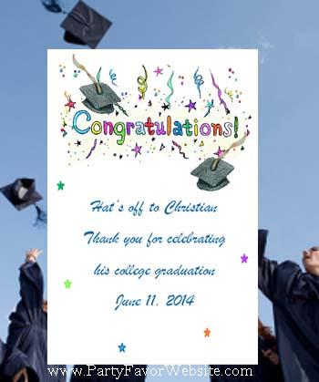Congratulations Graduation Seed Favor & Tea Packet Party Favors