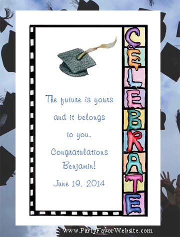 Celebrate Graduation Seed Favor & Tea Packet Party Favors